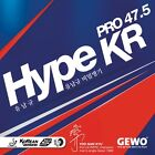 GEWO Hype KR Pro 47.5 table tennis rubber, 2.1 mm (Maximum) thickness