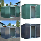 Pent/Gabled Roof Garden Sheds Tool House - Heavy Duty Metal Including Foundation