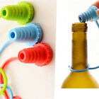 Anti-lost Silicone Bottle Stopper Cork Hanging Button Red Wine Beer Cap Plug Ay