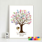 Fingerprint Tree Decoration Signature Canvas Painting Gift  for Baby Shower