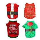 Cartoon Christmas Xmas New Year Clothes Costume Dogs T-Shirts Puppy Pets Party