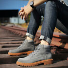 Mens Ankle Martin Boots Leather Suede Casual Military New Work Shoes Anti skid