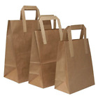Brown Paper Carrier Bags with Flat Handles - Small / Medium / Large