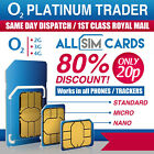 2 x New & Sealed - O2 Sim Card - PAYG - Only 20p - Classic O2 Pay As You Go  02