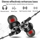 In-Ear Earbuds, Magnetic Wired Earphones Mic Metal Stereo Bass Noise Cancelling