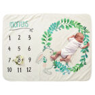Newborn Baby Blanket Monthly Growth Number Photography Props Photo Background