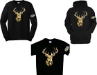 Mossy Oak Camo Deer Green T'shirt Long Sleeve Tees Hoodies