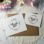 50pcs/lot Fresh Flowers Thank you Paper Card Wreath Of Rose Gift Decoration Card