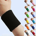 2 x Sports Basketball Cuff Unisex Cotton Sweat Band Sweatband Wristband Wrist BY