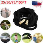 25/50/75/100FT Deluxe Expandable Flexible Garden Water Car Wash Hose Pipe USA BE