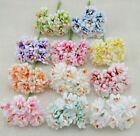 6pcs Fake Flower Silk Gradient Stamen Handmade Artificial Flower Bouquet Wedding