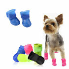 NEW Dog Candy Colors Boots Waterproof Protective Rubber Pet Rain Shoes Booties