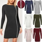 Womens Ladies Bodycon Jumper Dress Jewel Embellished Stretchy Fit Sweater Size