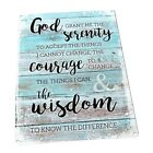 Serenity Prayer Metal Sign; Wall Decor for Office or Meeting Room