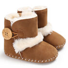 US STOCK Baby Girl Boy Snow Boots Winter Half Boots Infant Kid Soft Bottom Shoes