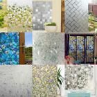 3D Frosted Window Glass Film Sticker Privacy Home Decor Chic Static Cling Cover