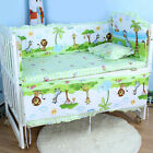 Baby Crib Nursery Bedding Sets Breathable Comfy Infant Cot Protector Pad Pillow