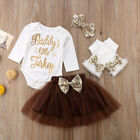 Thanksgiving Clothes Newborn Baby Boy Girl Outfits Tops Romper Leggings Hat US
