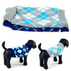 Plaid Small Pet Cat Dog Knitwear Outdoor Warm Puppy Coat Top Sweater Clothing
