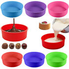 Silicone Round Cake Mold Pan Muffin Bread Pizza Pastry Bakeware Tray Mould