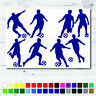 8 Blue Footballers Sticker Set Any Colour Wall Laptop Glass Car Vinyl