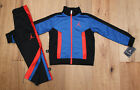 Air Jordan Toddler Boy 2 Piece Jogging Set ~ Tracksuit ~ Black, Blue & Orange ~