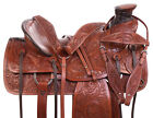 Old Western Wade Tree Ranch Style Leather Horse Pleasure Trail Saddle Tack 14 15