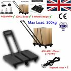 HEAVY DUTY FOLDING FOLDABLE HAND SACK TRUCK BARROW CART WHEEL TROLLEY 200KG