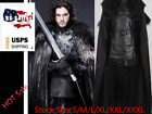 US Game of Thrones Jon Snow Cosplay Halloween Fancy Party Mens Costume Outfit