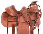 Used Ranch Wade Tree Roping Trail Western Premium Rough Out Leather Horse Saddle