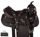 Black Cordura Synthetic Barrel Racer Trail Round Skirt Western Horse Saddle Tack