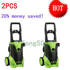 2Pcs  3000PSI 1.7GMP Electric Pressure Power Washer With Hose Detergent Tank New