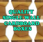 BRAND NEW QUALITY SINGLE CARDBOARD POSTAL BOXES - MADE FROM RECYCLED PAPER