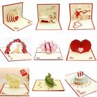 New 3D Pop Up Greeting Card Love Romantic Birthday Wedding Anniversary Valentine