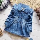 Girls denim jacket spring cotton jean lapel coat kids emperament outfits