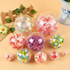 5x Plastic Balls Christmas Decoration Clear Open Bauble Ornament Birthday Gifts