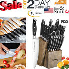Kitchenette Knife Set 18-Piece With Block Wooden Self Sharpening Manual German Steel