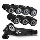 XVIM 1080P HDMI 8CH CCTV DVR 2MP HD Outdoor IR Night Security Camera System 1TB