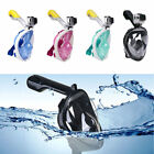 S~XL Breath Full Face Mask Surface Diving Snorkel Scuba for GoPro Swimming Tools