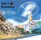 Syma X5C-1 Explorers 2.4Ghz RC Quadcopter Drone 6-Axis Gyro w Camera+5 Batteries
