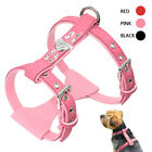 Soft Suede Leather Dog Harness Rhinestone Pet Walking Vest for Small Medium Dogs