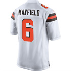 Mens Cleveland Browns 6 Baker Mayfield White 2018 Football Jersey S 3XL