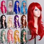 70cm Women Wigs Long Hair Full Wig Curly Wavy Hair Hairpiece Cosplay Party Gifts