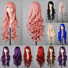 80cm Women Hair Full Wigs Synthetic Long Curly Wavy Wig Cosplay Party X'mas Gift