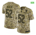 New Chicago Bears Khalil Mack 52 Salute to Service Camo Jersey