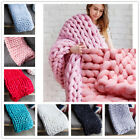 Newly Arrived Ultra-Thick Soft Warm Hand Chunky Knitted Sofa Blanket Bed Blanket image