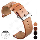 18 20 22mm Quick Release Pin Genuine Leather Watch Band Replace Wrist Strap Band image