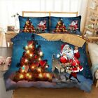 Santa Claus Bed Linen US Twin Full Queen King UK Double AU Single Size Bedding