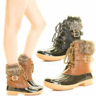 Womens Winter Snow Rain Ankle Duck Boots Waterproof Adjustable Lace Up Shoes Hot