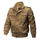 TACVASEN Men's Military Cargo Jacket Cotton Coats MA-1 Airborne Bomber Jackets